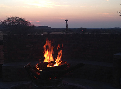 From the PH next to the fire at Wiets Safaris - Your Deam Trophy Hunting Safaris under African skies